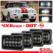4pc For Ford Mustang Probe Ltd Thunderbird 4x6 Led Headlight Hi Lo Beam Halo Drl Fits Mustang