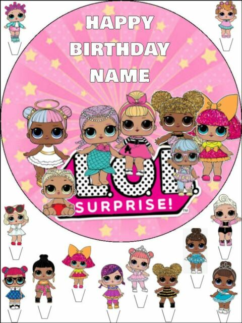 LOL Surprise VALENTINE Edible Image COOKIE or CUPCAKE topper!