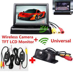 Wireless-Car-Reverse-Rear-View-Backup-Night-Vision-Camera-Kit-TFT-LCD-Monitor