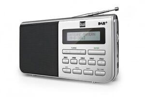 Dual-DAB-4-1-DAB-Schwarz-Silber-Tragbar-Batterie-amp-Netz-Betrieb-Digitalradio