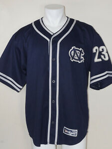 new style bb87d 9980c Details about RARE North Carolina UNC Tar Heels Michael Jordan #23 Baseball  Jersey LARGE