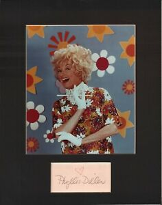 Phyllis-Diller-Signed-Autographed-Cut-Matted-11x14-w-COA-073019DBT2