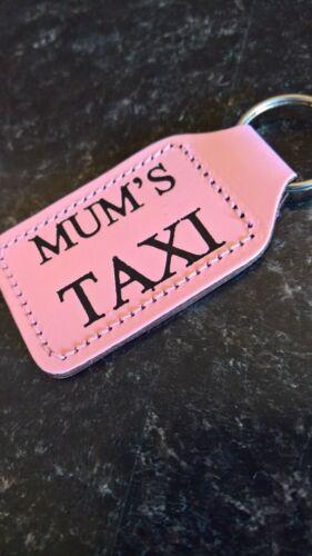 Mums Taxi PELLE Portachiavi in Rosa