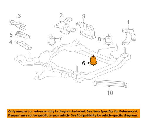 GM OEM-Engine Motor Mount//Torque Strut 25840452