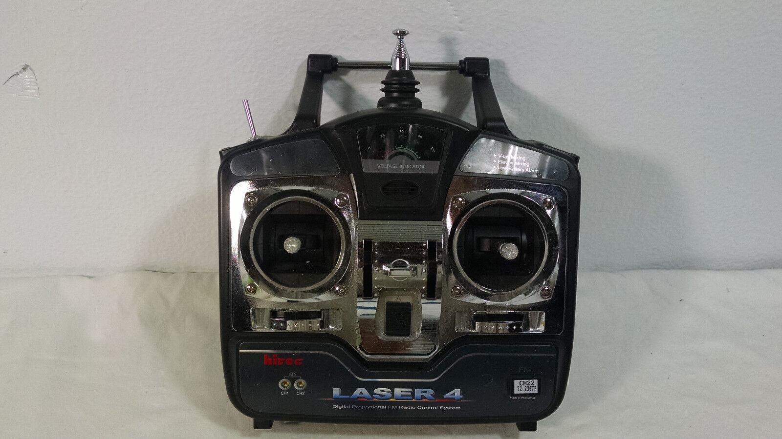 LASER 4 REMOTE CONTROL HITEC HITECH DIGITAL PROPORTIONAL FM RADIO SYSTEM
