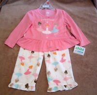 Baby Girls Toddler Child Of Mine Ballerina Graphic Two-piece Pajama Set Size 2t