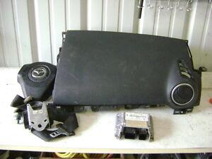 04 05 06 07 08 09 Mazda 3 Air Bag Set Wheel Dash Module Belt Black OEM BP4M57K30