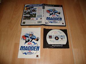 MADDEN-NFL-2001-FUTBOL-AMERICANO-DE-EA-SPORTS-PARA-LA-SONY-PS2-USADO-COMPLETO