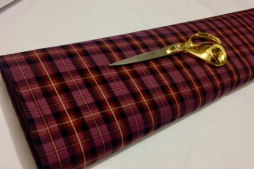 NEW*Checked Tartan Soft L//Weight Viscose Dress//Skirt//Shirt//Craft Fabric Material