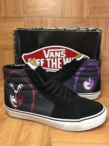 RARE🔥 VANS Sk8-Hi Kiss Army Singles Faces Sz 10 Men s Skateboarding ... ddd326634