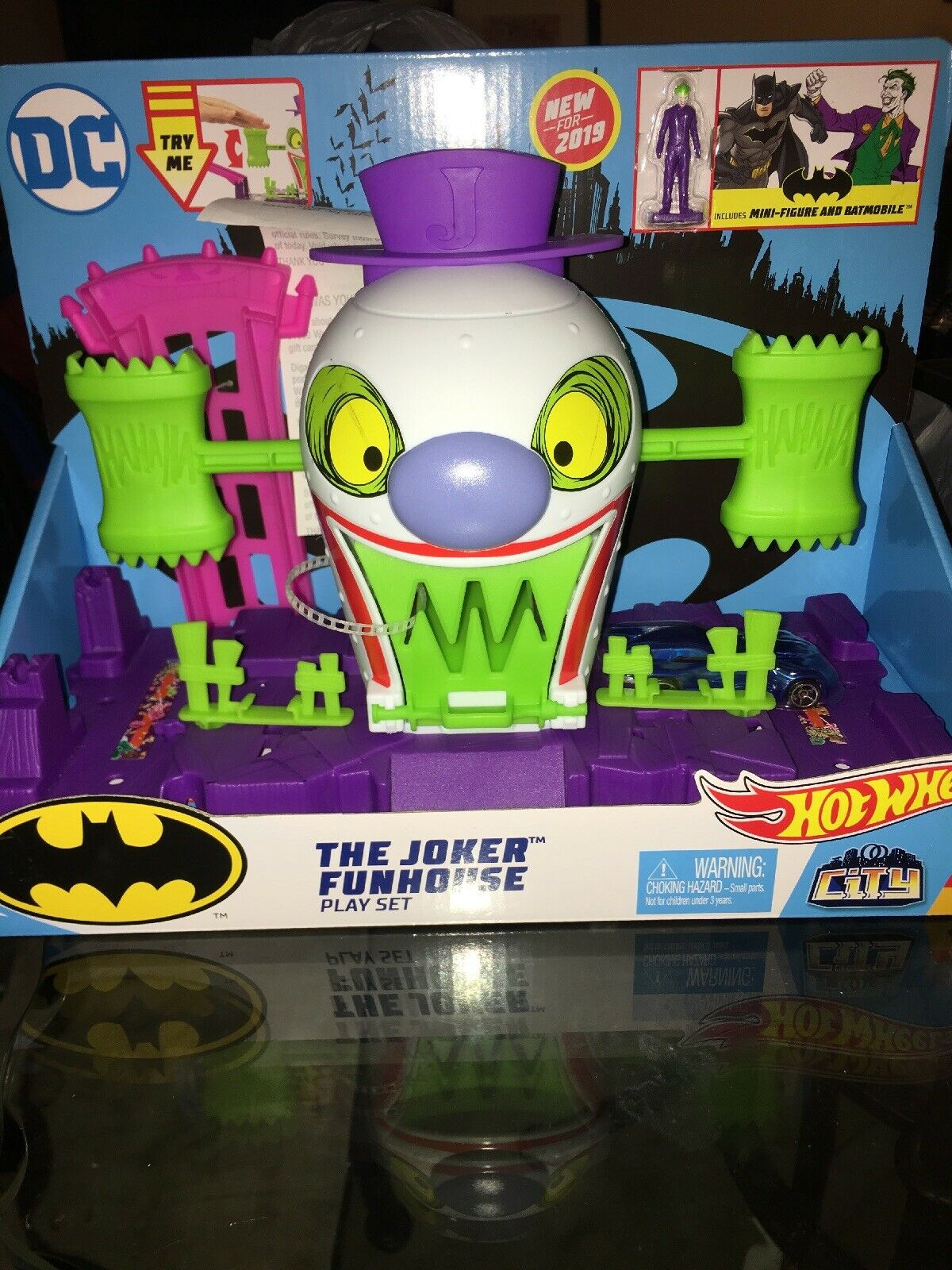 Hot Wheels The Joker Funhouse Playset With Joker Figure And Car