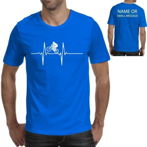Mountain Bike Pulse Heartbeat Bicycle Cycling Mens Birthday Gift Printed T-Shirt