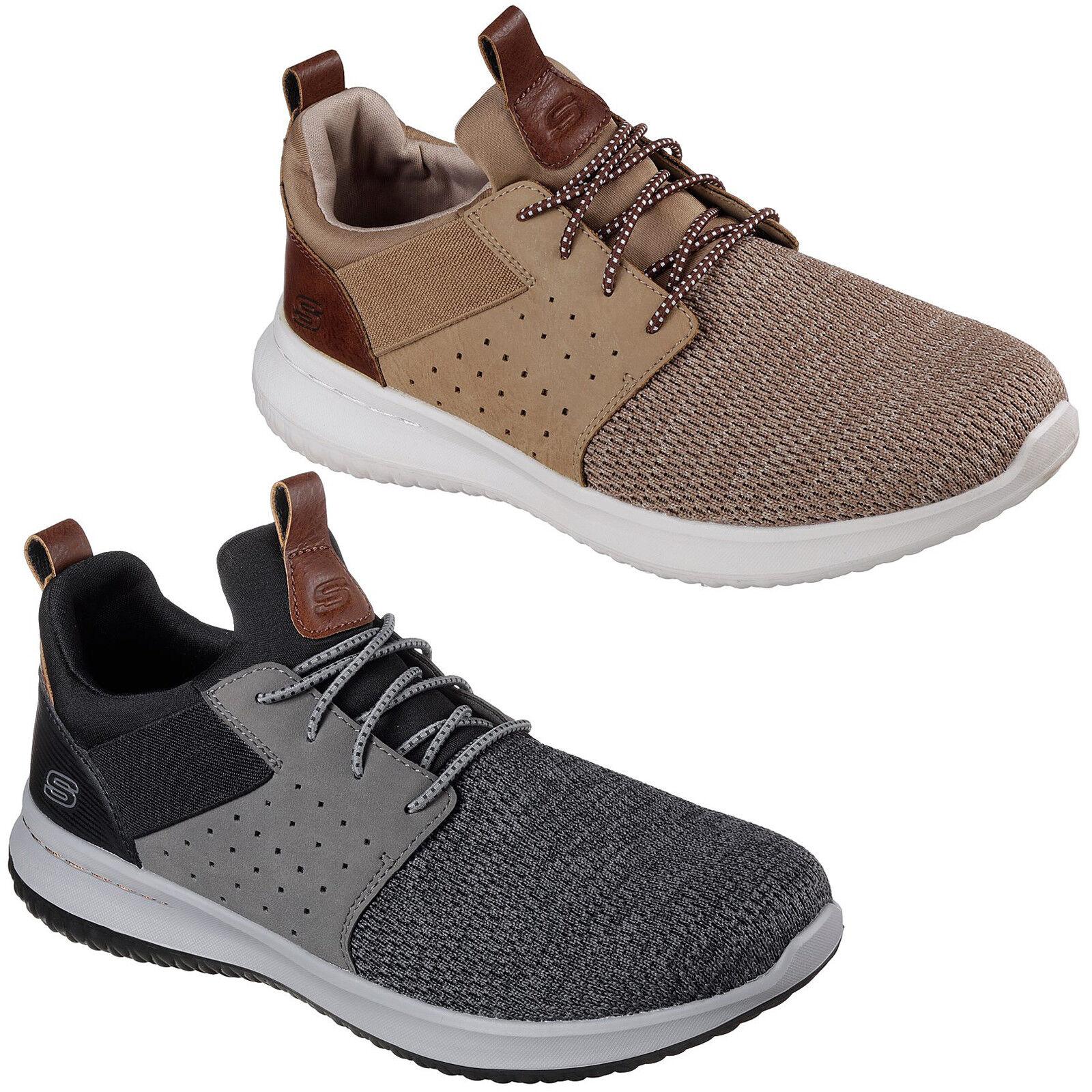 Skechers Delson - Camben Zapatillas para Hombre Deporte Ligero Punto Malla