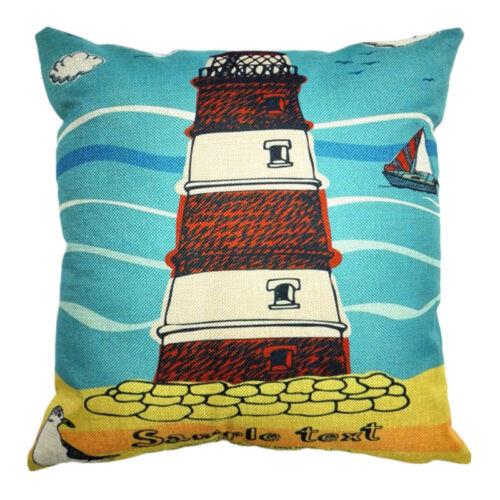 """18x18/"""" Sandbeach Style Cotton Linen Pillow case Home Decor Throw Cushion Cover"""