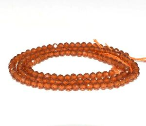 Natural Hessonite Shaded Faceted Rondelle Gemstone Beads,13  Strand,3-3.5 mm  AAA Quality Shaded Brown Hessonite Jewelry Designing Crafts