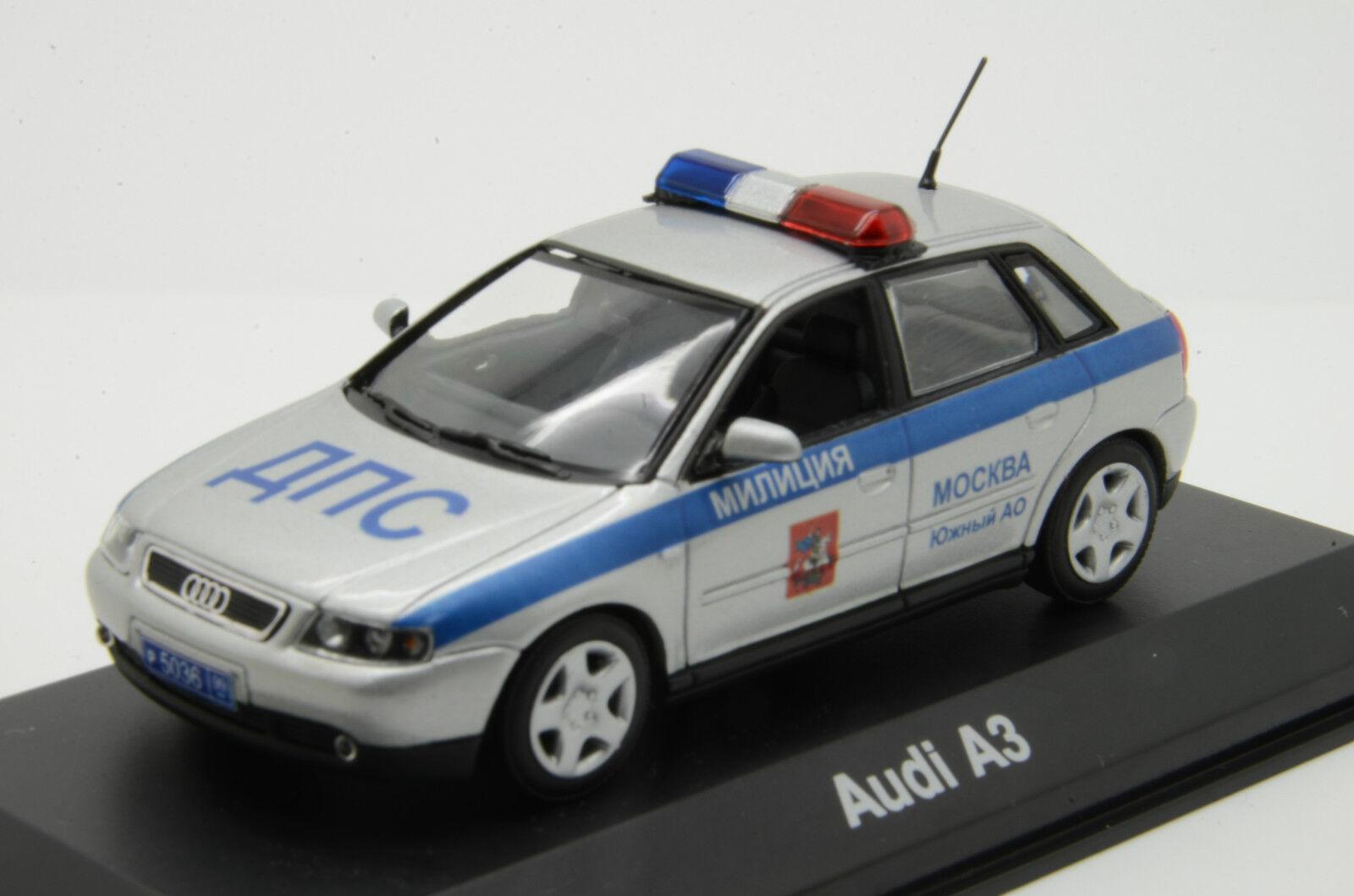 Audi A3 Policía Rusa Minichamps 1 43