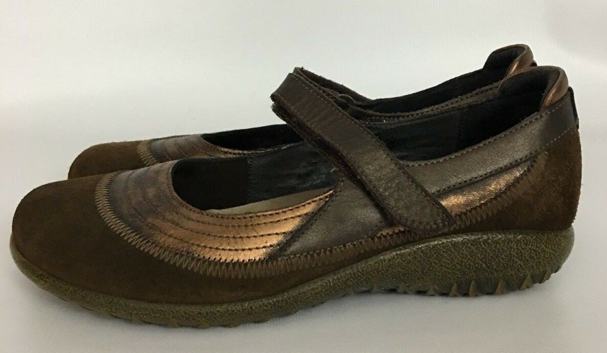 Naot Kirei Copper Cocoa Mary Janes shoes Flats Size 38 L7