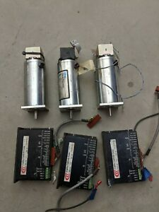 3x-Copley-Servo-Amplifier-Drive-Model-412-3x-Litton-Clifton-C23-L50W10M09-Motor
