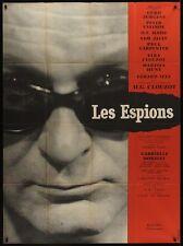 Les ESPIONS French Grande movie poster 47x63 (120x160) CLOUZOT CURT JURGENS