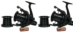 2 X Sonik Dominator X 8000 Big Pit Carp Reels with spare spools Fishing RRP