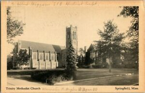 1905-TRINITY-METHODIST-CHURCH-SPRINGFIELD-MASS-POSTCARD-EE9