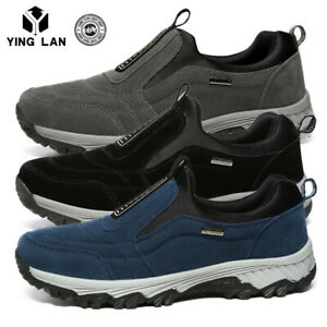 Men-039-s-Slip-On-Sports-Outdoor-Sneakers-Running-Walking-Hiking-Shoes-Trainers-Size