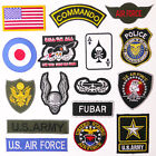 US MILITARY PATCH SHOP - Any Patch £1.95 - Embroidered Iron-On, UK, Free Post
