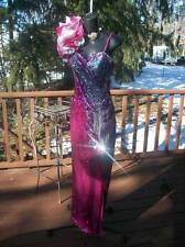 VINTAGE 80s HIGH GLAMOUR PROM PARTY DRESS S BEST IN SHOW PINK