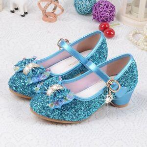 Children Princess Sandals Girls Fantasy Crystal Shoes Glittering Sequins Bling