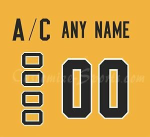 new style 5ba46 3707c Details about Pittsburgh Penguins Customized Number Kit for 2018-Present  3rd Jersey