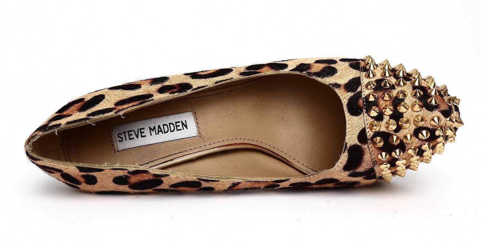 Steve Madden Bolddd Gold Cheetah Print Gold Bolddd Stud Platform Pumps Sz 8.5M 4448 d13b5e