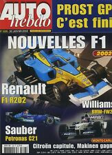 AUTO HEBDO n°1326 du 30 Janvier 2002 PROST GP MG ZT 190