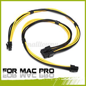 Dual Mini 6 Pin auf 8 Pin Male PCI-E 18AWG Grafikkarte Stromkabel Für Mac Pro #
