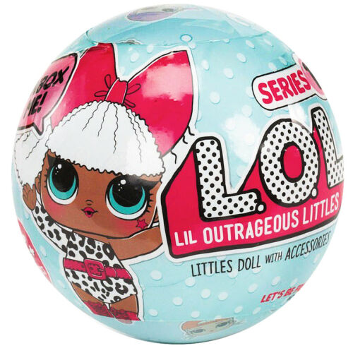 100/% MGA L.O.L Surprise Tots Ball Doll Series 1 Asst in PDQ Case of 18Pcs NEW