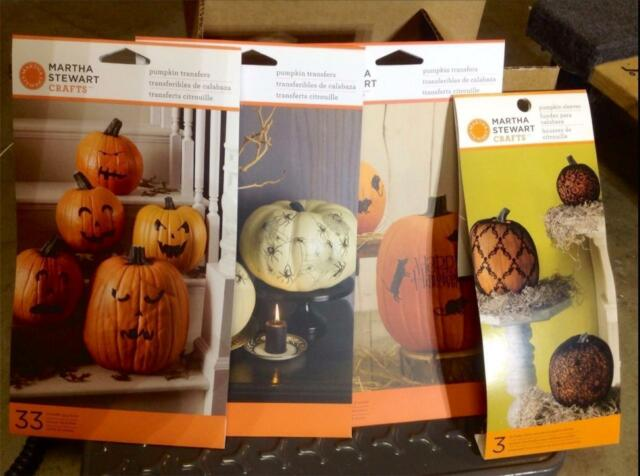 Halloween Decorating Pumpkin Transfers U0026 Sleeves   Martha Stewart  Decoration Kit