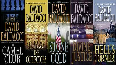 "Lot of 5 David Baldacci ""The Camel Club""Hardcover Series-Complete"
