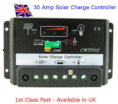 SOLAR Charge Controller - 30 AMP 12/24V - Available in UK - First Class Post