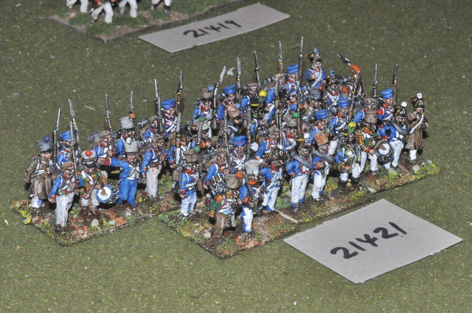 25mm napoleonic   french - infantry 42 figs - inf (21421)