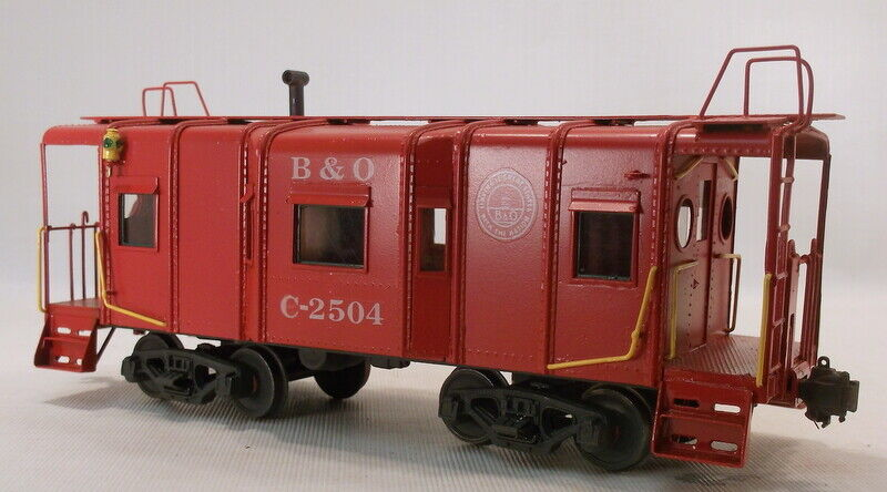O 2RAIL BRASS UNKNOWN BALTIMORE & OHIO 32' STEEL WAGON TOP CABOOSE  C2504 PAINTE
