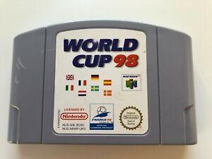 Copa del Mundo 98-Nintendo 64-N64 Carro Clásico Juego De Fútbol!