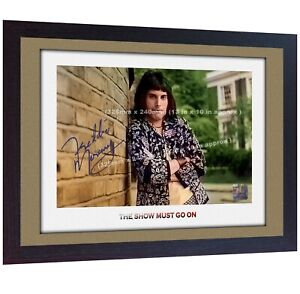 Freddie-Mercury-Queen-signed-print-photo-autograph-poster-picture-Music-Framed