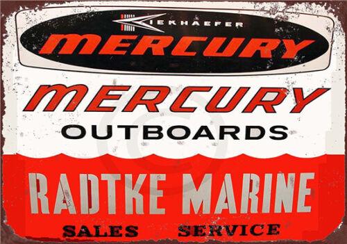 Metal Tin Sign MARINE moteurs hors-bord Pub Maison Rétro Vintage Poster CAFE ART