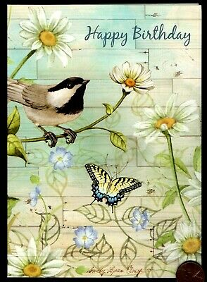 Religious Greeting Card BIRTHDAY Butterfly God Has Created You /& Rejoices .