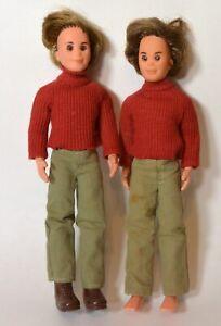 Vintage-1971-Mattel-SUNSHINE-FAMILY-Dolls-LOT-of-2-Boy-dolls