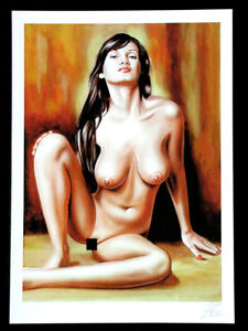 AKT NUDE Pin up EROTIK Bild EROTIC Print Art Kunst Grafik Graphic signiert,limit