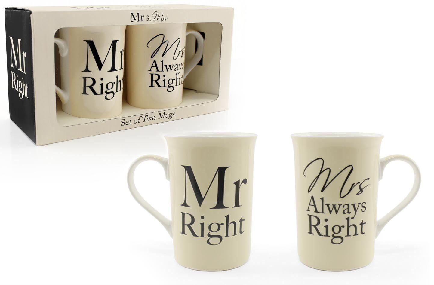 M. droit & mrs always right tasses parfait cadeau de nouveauté tasses mariage anniversaire