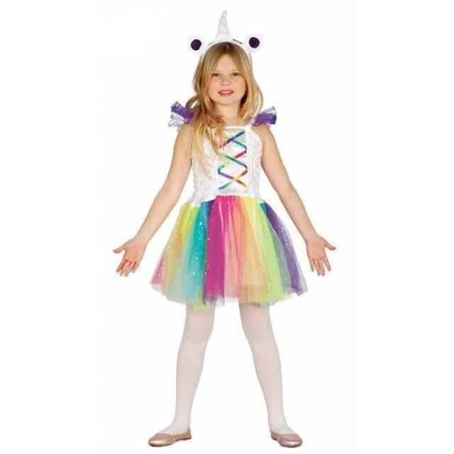 7cfa9b06526a Child Rainbow Unicorn Costume Girls Fantasy Book Week Day Fancy ...