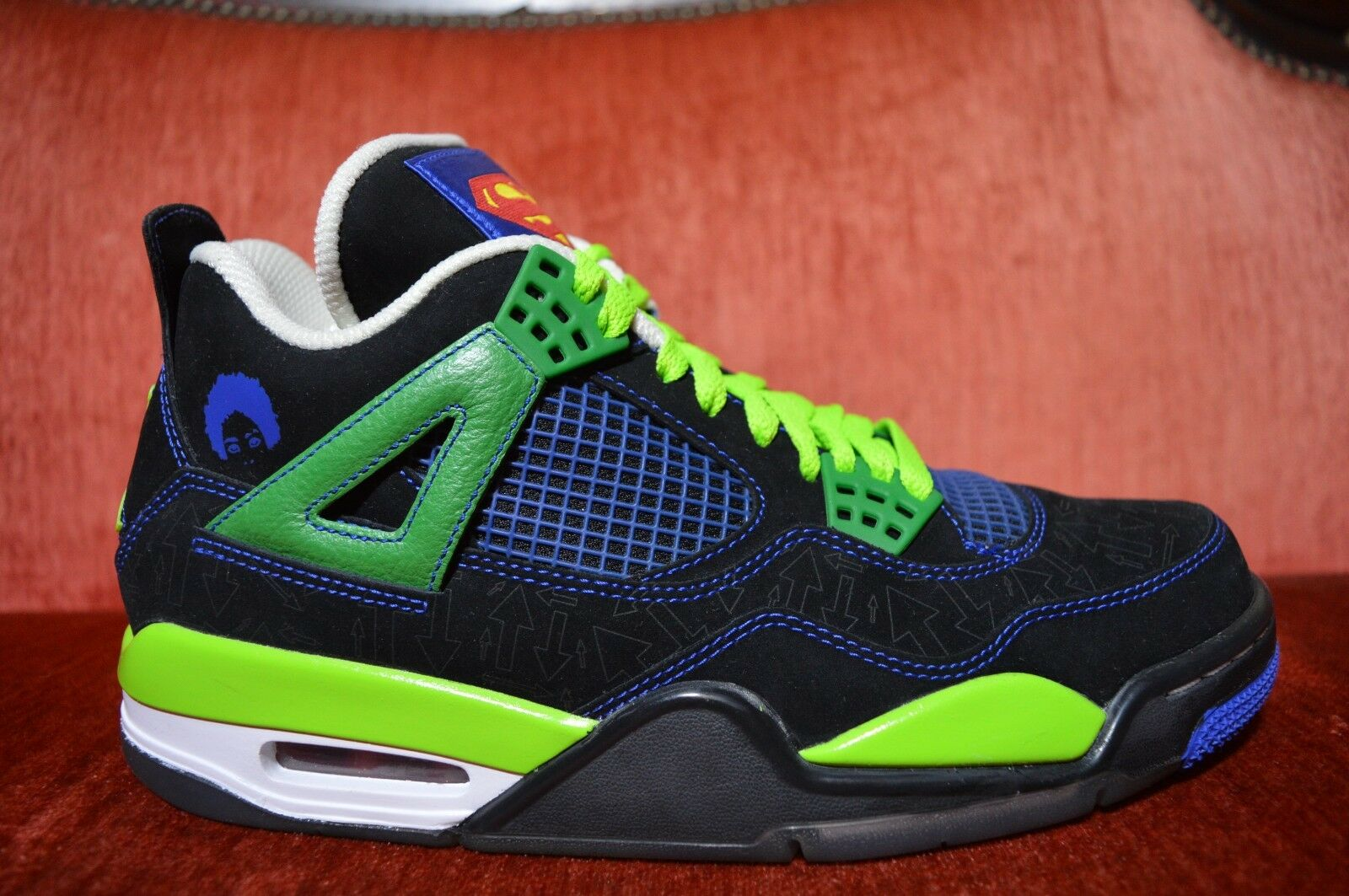 WORN 1X Nike AIR JORDAN IV 4 RETRO DB DOERNBECHER SIZE 8.5 Blue GREEN 308497 015