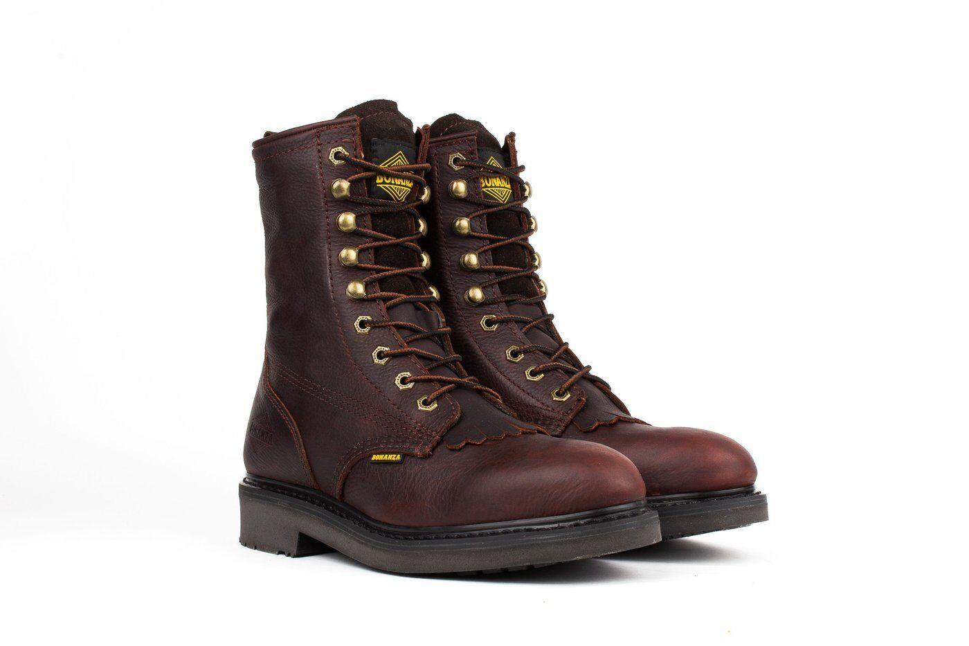Bonanza Stiefel T817 Kiltie Lacer Goodyear Welt Construction Steel Toe 8