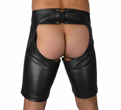 Pantalon Cuir Cuir Chaps Aw-774 Court Cuir Pantalon en cuir lisse court LEDERCHAPS Pantalon